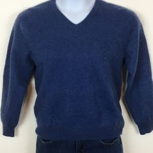 Club Room Size Large 100% Cashmere Blue Sweater